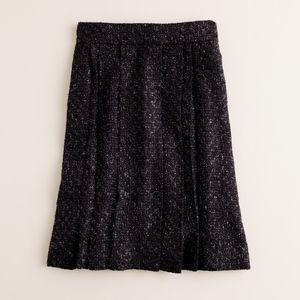 J. Crew Tinsel Tweed Skirt Black NEW!